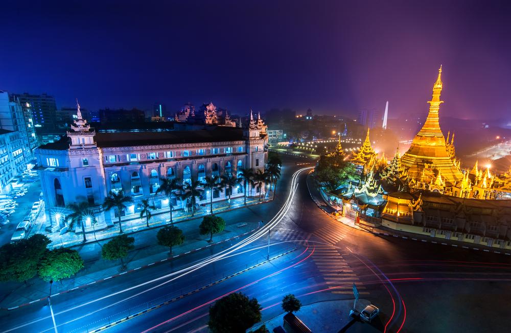 Multiverse Advertising Yangon Night Scene